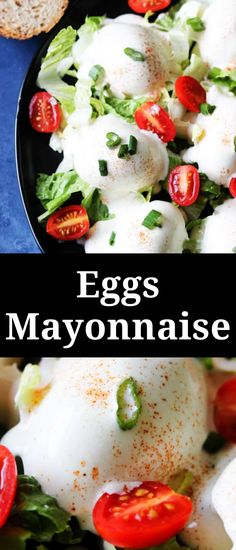Eggs Mayonnaise ('Jajka w Majonezie') is a traditional Polish appetizer. You can find it in every home around the Holidays, especially Easter. It's super simple to make, requires only a few ingredients, and it tastes absolutely delicious! #appetizer Dip Recipes, Easy Recipes, Easy Meals, Egg Mayonnaise, Recipes With Few Ingredients, Borscht, Cheese Fries, Egg Dish, Fried Onions