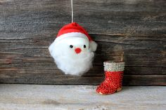 vintage santa boot ornaments lot // styrofoam by umbrellafant