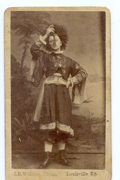 Lady Attira: sword walker swallower cabinet card c. 1870