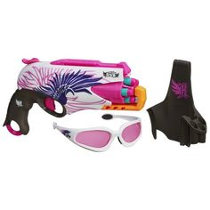 I love that Nerf came out with a pink gun… revenge on the brothers will be sweet. Especially with this rotating barrel. Nerf Rebelle Sweet Revenge Dart Kit, so appropriately named. Gifts for Girls Toys For Girls, Gifts For Girls, Girl Gifts, Kids Toys, Nerf Gun Attachments, Pistola Nerf, Pink Guns, Bff, Dart Set