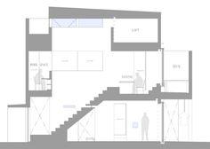 Plan of House in Hakusan by FujiwaraMuro Architects, in Ishikawa, Japan.