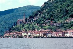Lake Lugano and Marcote in Switzerland