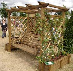 Duckpaddle | Wooden Garden Swings | Garden Arbours | Garden Furniture - Pergola swing