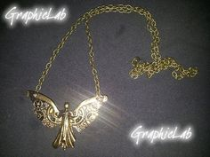 Mechanical Angel necklace Tessa Gray by GraphicLabStore on Etsy