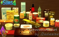 Ladesire Creative Corner: Groceries Set converted from TS3 to TS4 • Sims 4 Downloads