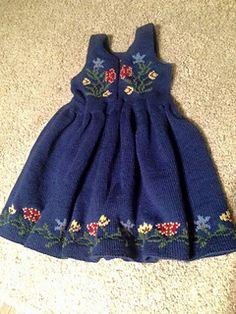 Ravelry: Nordland Festdrakt Pike pattern by Lill C. Knitting For Kids, Baby Knitting, Baby Girl Dresses, Flower Girl Dresses, Knit Crochet, Crochet Hats, Knit Baby Dress, Traditional Dresses, Clothing Patterns
