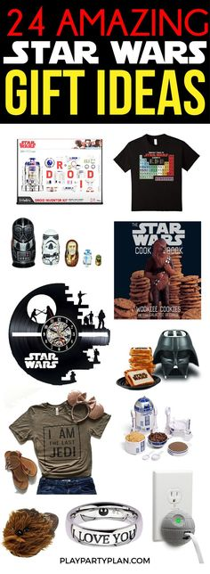 The best Star Wars gifts ever! Gift ideas for her, for her, for kids, and everyone in between! Love all of the options for adults as well a the ideas that are just for men. Can't wait to DIY some of these for guys in my family!