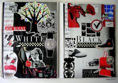 https://flic.kr/p/8ianuE | Big24 | laVida_noEs_enBlanco_Ynegro  Julio 2010 / Soul Journal / July 2010. 21 x 28 cms. 8.5 x 11 in. Double spread. Collage on paper. Handmade. Instants, sighs. ©fdL2010