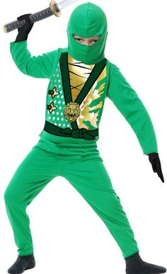 Go perfectly stealth in our Green Ninja Avengers Costume! Toddler Boys Green Ninja Avenger Costume includes a hood shirt vest with gold lion detail and ...  sc 1 st  Pinterest & Lego Ninjago Green Ninja - Halloween Costume Contest at Costume ...