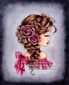 Im designer at Conie Fong Art and Design . She make so many lovely digi stamp. Thought I would share my DT colouring with this lov. Bella Rose, Art Journal Inspiration, Distress Ink, 30 Day, Copic, Quilling, Markers, Coloring, Challenges