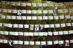 Hanging place cards are a perfect display. www.rusticweddingchic.com