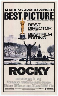 Rocky (1976). Wins Best Picture Oscar over many better films IMHO, March 1977. The First and Third were the best; the others...not so much.