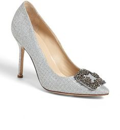 Manolo Blahnik 'Hangisi' Jeweled Pump (Women) available at Women's Shoes, Me Too Shoes, Shoe Boots, Platform Shoes, Pretty Shoes, Beautiful Shoes, Bridal Shoes, Wedding Shoes, Manolo Blahnik Hangisi