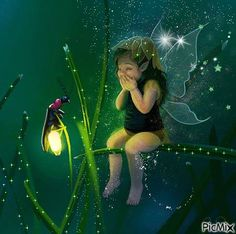 Dancing Fairies and Elves Animals Tattoo, Fairy Paintings, Fairy Pictures, Good Night Sweet Dreams, Let Your Light Shine, Beautiful Fairies, Good Night Quotes, Flower Fairies, Clay Fairies