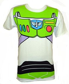 Disney Pixar Toy Story Buzz Lightyear Costume T-shirt (Small, White) Buzz Lightyear Costume, Toy Story Buzz Lightyear, Easy Halloween Costumes, Costume Ideas, Toy Story Costumes, T Shirt Costumes, To Infinity And Beyond, Cool Tees, Disney Pixar