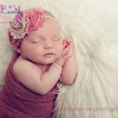 Dusty Pink Shabby Chic Headband