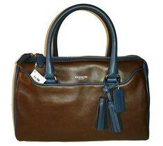 Coach Legacy Leather Haley Two Toned Satchel Top Handle Bag 25807   #love #coach #leather #legacy #haley #purse #handbag  @shoppevero @amazon #shoppevero @coach @amazonfashion