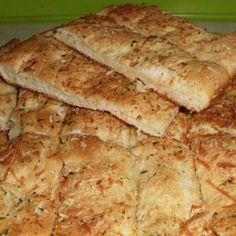 Foccacia Bread Sticks-Bread Machine Recipe