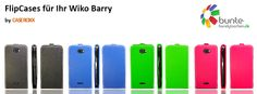 wiko barry flip cases - now available in various colors under #caseroxx on ebay & amazon and under www.bunte-handytaschen.de