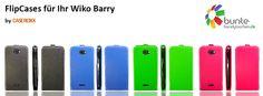 wiko barry flip cases - now available in various colors under #caseroxx on ebay & amazon and under www.bunte-handytaschen.de