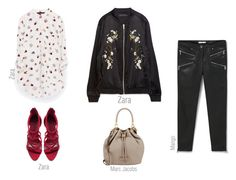 BOMBER - Work look by ireneconcello on Polyvore featuring Zara, MANGO and Marc by Marc Jacobs
