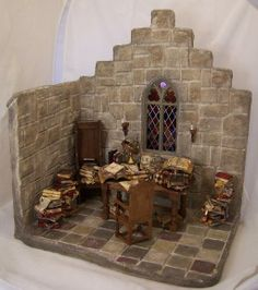 Wizard's study... honestly, do I need another hobby-turning-into-obsession? But this is NEAT!