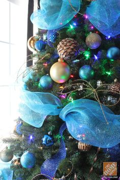 christmas tree teal and gold - Google Search