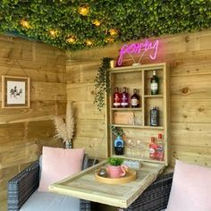 The Henry Garden Bar | Etsy She Shed Interior Ideas, She Shed Decorating Ideas, Summer House Garden, Garden Bar Shed, Summer Houses, Garden Sheds, Summer House Interiors, Garden Shed Interiors, Shed Hangout Ideas