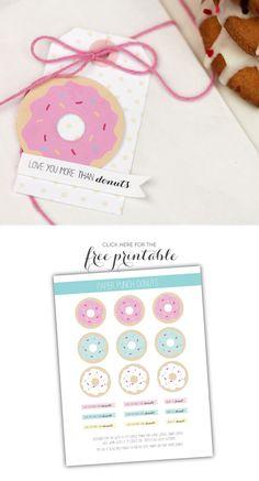 Free Printable Donuts - by Amber at Damask Love