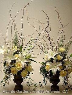 Pair of Urn Arrangements | The Rose Shop | Utah Full Service Florist | Sympathy Flowers | Funeral | Standing Sprays #theroseshop #roseshopflowers #sympathy