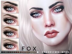 Eyebrows in 18 colors Found in TSR Category 'Sims 4 Facial Hair'