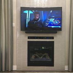 TV Installation Service Toronto - TV Wall Mounting & Home Theater Tv Wall Mount Installation, Home Theater Installation, Tv Wall Panel, Home Theater Rooms, Wall Mounted Tv, Wood Bridge, Concrete Wall, Custom Cabinets, Bar