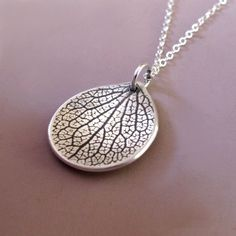 Petal Necklace  Sterling Silver by esdesigns on Etsy