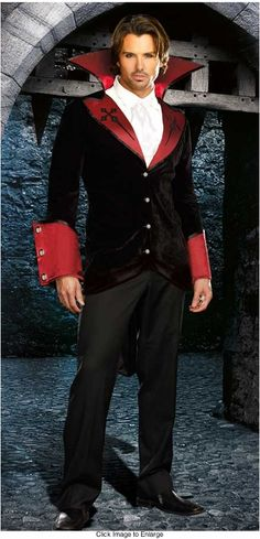 Light Up Cross Vampire Costume for Men for $55.00 (available up to size XXL)