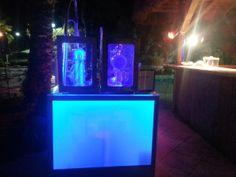Nitrogen ice cream machine and shaved ice machine side by side. www.nitrogenicecreamorlando.com