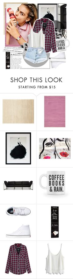 """""""#11"""" by stalya ❤ liked on Polyvore featuring Calvin Klein, Loloi Rugs, Oliver Gal Artist Co., Stephen Kenn, Vans, Rails and Chicwish"""
