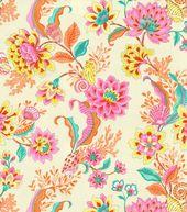Home Decor 8''x 8'' Fabric Swatch Print-Laurette Design Diver's Paradise Mimosa