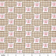 Bunny Patch Flannel - Chocolate Cherry By Deborah Edwards   Northcott Studio