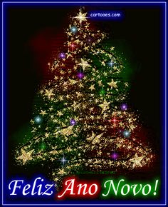 Brilhe o ano novo! Merry Christmas In Portuguese, Merry Christmas And Happy New Year, Christmas Time, Christmas Cards, Beautiful Nature Pictures, Beautiful Gif, 4th Of July Wallpaper, Christmas Wishes Quotes, Christmas Tree Decorations
