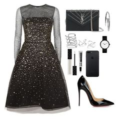 """""""Untitled #116"""" by charlotte-lane-robinson on Polyvore featuring Oscar de la Renta, Christian Louboutin, Yves Saint Laurent, GUESS, Gucci and Aesop"""