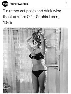 Love Sophia Loren and her unapologetic stance to enjoying her life, her body, and her curves. (Being a natural size zero is fine, I believe Sophia's quote is more about dieting than body size). Body Love, Loving Your Body, Love Your Body Quotes, Good Girl Quotes, Fabulous Quotes, Nice Body, Body Positivity, Size Zero, Girl Power