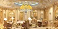 Best interior designer Dubai Interior Design Dubai, Gold Interior, Luxury Homes Interior, Classic Interior, Interior Design Companies, Best Interior, Living Room Partition, Bed In Living Room, Modern Office Design