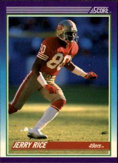 1990 Score #200 Jerry Rice San Francisco 49ers NFL Football Card #Score #SanFrancisco49ers