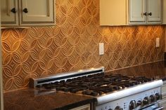 Arts and Crafts Contemporary Kitchen Backsplash - contemporary - kitchen - new york - Virtue Tile Contemporary Kitchen Backsplash, Backsplash Wallpaper, Kitchen New York, Rookwood Pottery, Animal Print Rug, Kitchen Remodel, Tiles, Arts And Crafts, Modern