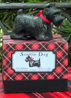 Scottie Dog Soap - the box is adorable too!