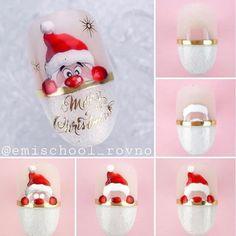 May you have a beautiful mood and a pleasant holiday. Christmas Gel Nails, Holiday Nail Art, Christmas Nail Art Designs, Winter Nail Art, Winter Nail Designs, Winter Nails, Matte Nails Glitter, Stiletto Nail Art, Nail Art Noel