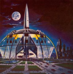 RFLPT: Skip the spaceport and take the Lunar Ferry. I avoid the crowds and the flight's much more comfortable in my Chrysler. - Imgur