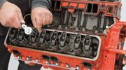 In this tech article we follow up our Cheap 350 project series by updating our s…    In this tech article we follow up our Cheap 350 project series by updating our small-block Chevy engine with performance parts including pistons, cylinder heads, camshaft, and intake manifold to increase...