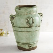 Belleville Green Patina Vase