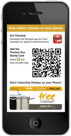 Collect and redeem stamps for Free Cook & Pour cook ware on your mobile phone- how easy!